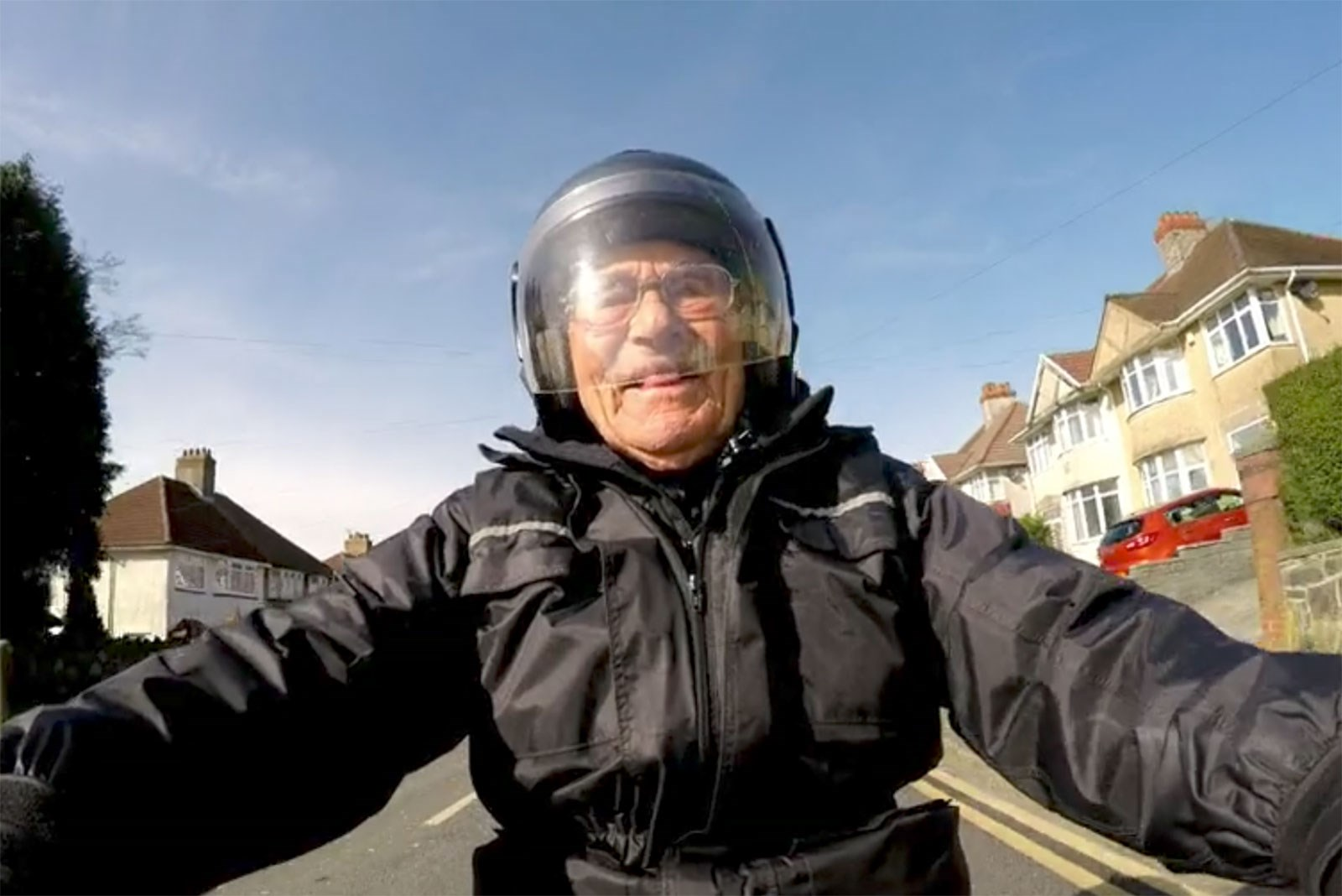 101 year old motorcyclist
