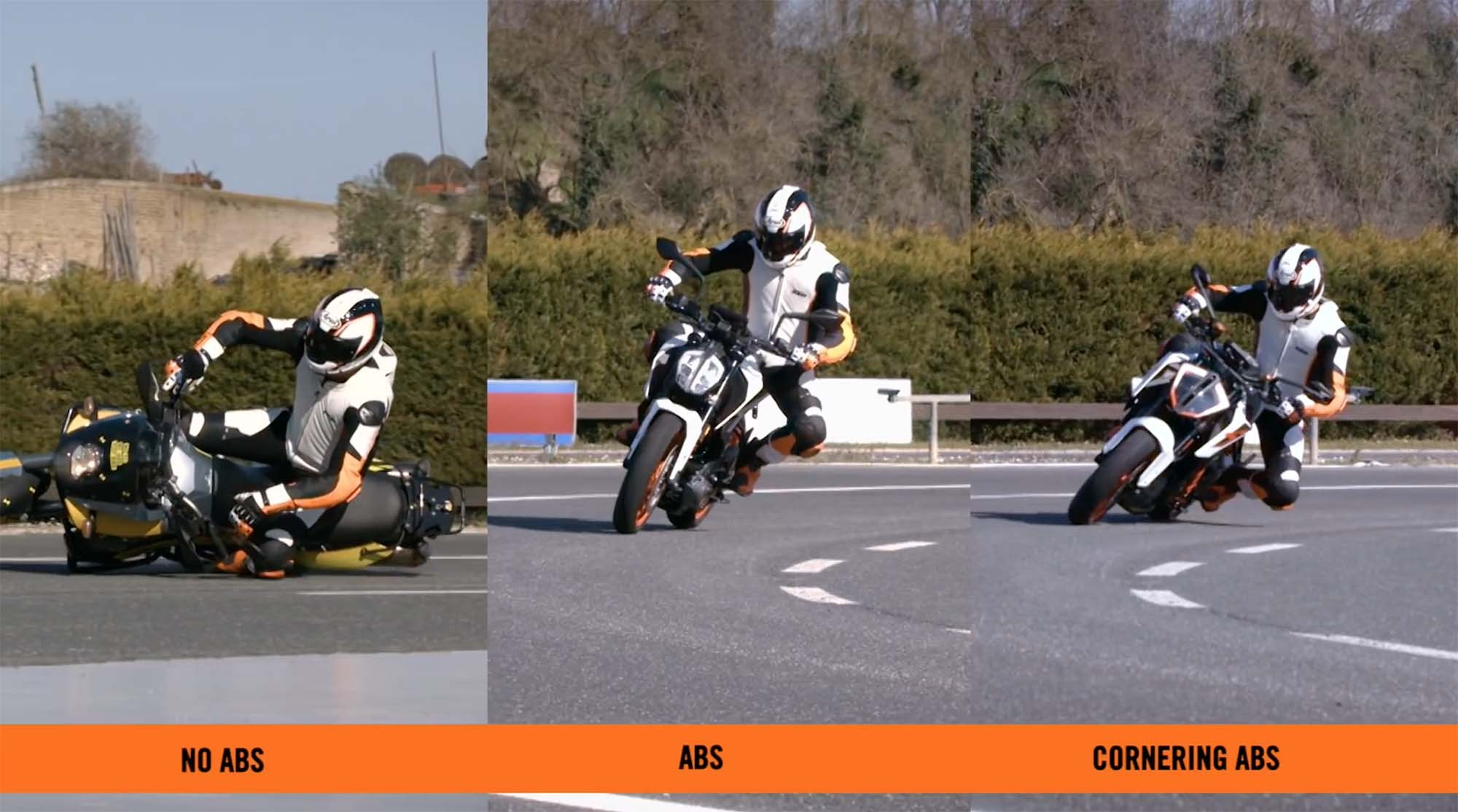 KTM cornering abs video 01