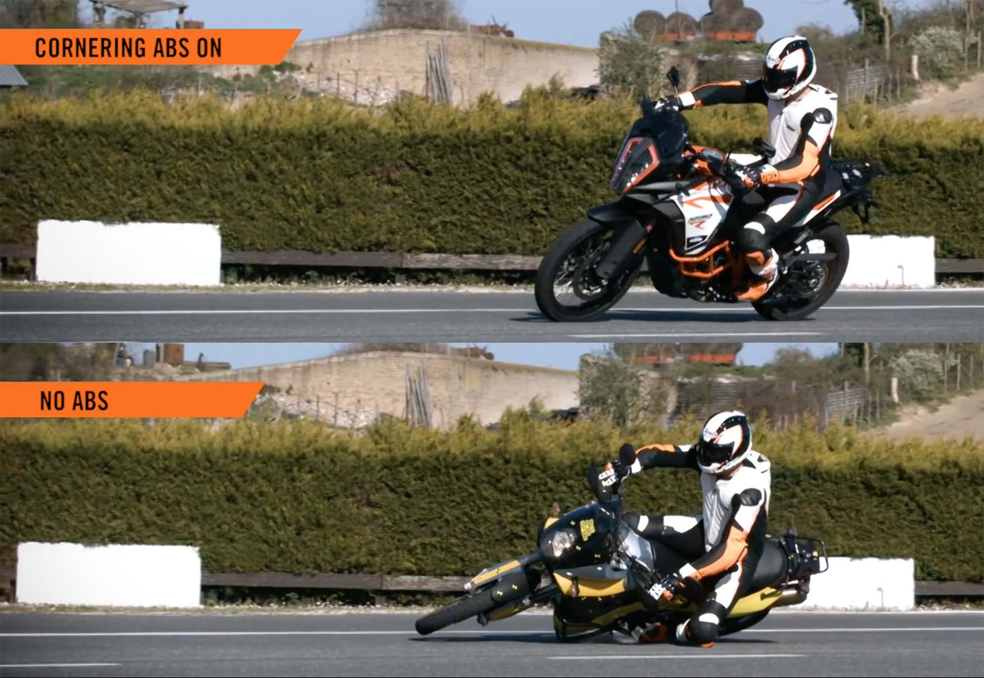 KTM cornering abs video 03